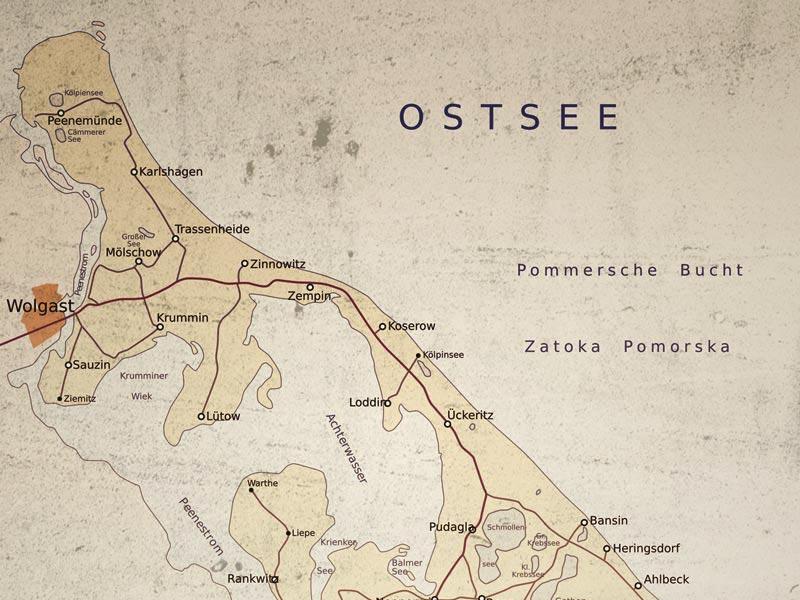 Insel Usedom Karte.Lage Und Anfahrt Auf Die Sonneninsel Usedom