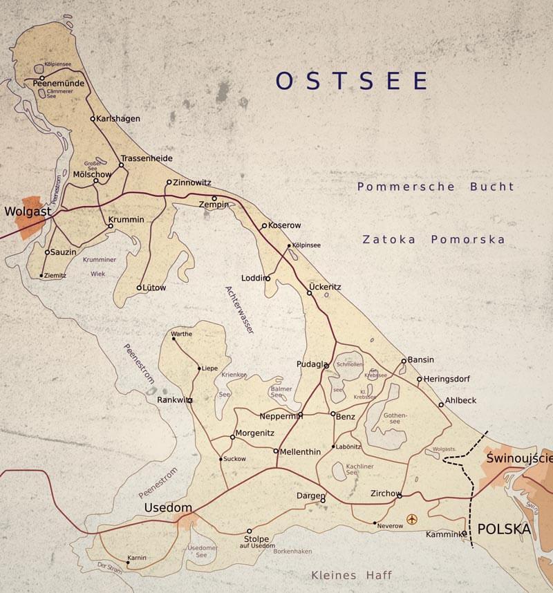 Insel Usedom Karte Ostsee.Lage Und Anfahrt Auf Die Sonneninsel Usedom