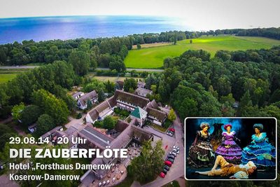 Mozarts Zauberflöte erklingt Open-Air am Forsthaus Damerow