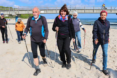 Walking Day - Start am Ostseestrand von Bansin