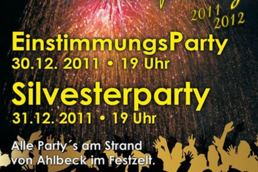 Usedomer Silvesterparty 2011 am Ahlbecker Strand
