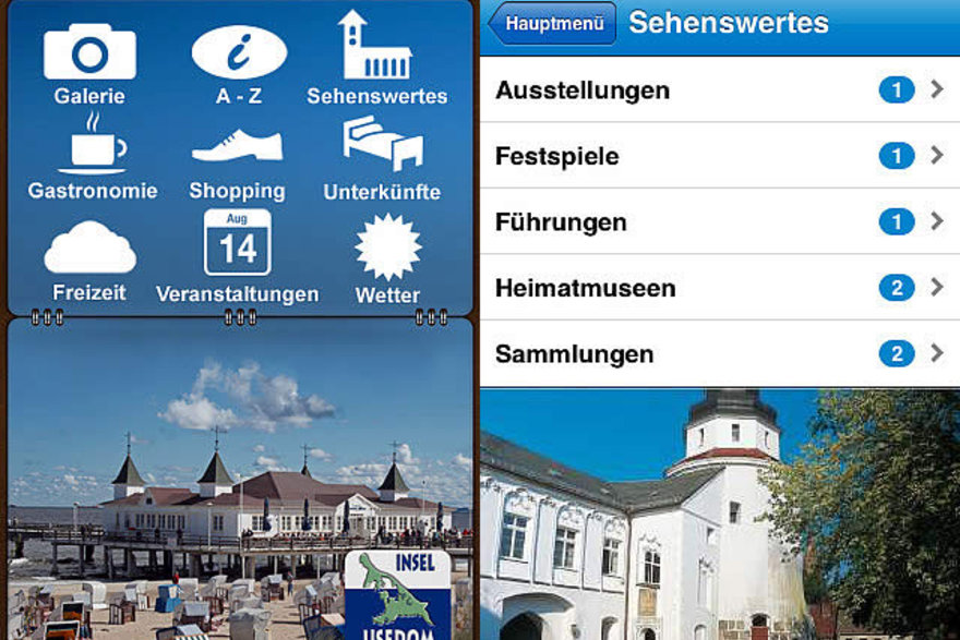 Usedom App Screenshot