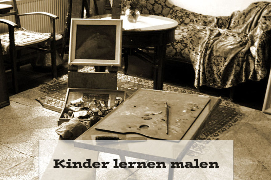 kinder lernen malen. Black Bedroom Furniture Sets. Home Design Ideas